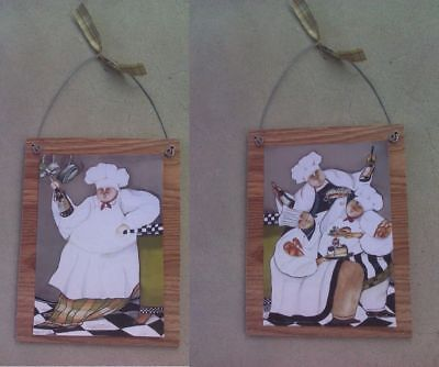 Fat Chef Pictures Bistro Cooking Chefs Wall Hangings Kitchen Home Decor