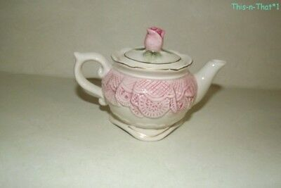 1994 Omnibus Fitz and Floyd China Rose Creamer with Lid