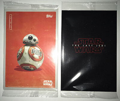 Topps Star Wars: The Last Jedi Trading Cards Fan Event FULL SET + MYSTERY PACK