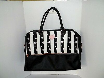 New! Mary Kay Consultant Bag Carrying Tote Duffle Pursepink Hearts Rose Gold!