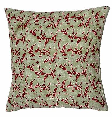 Traditional Kantha Indian Handmade Floral Decorative Cushion/ Shame Cover 05 Pcs