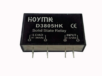 PCB Dedicated with Pins Hoymk SSR-D3805HK 5A DC-AC Solid State Relay SSR D3805HK