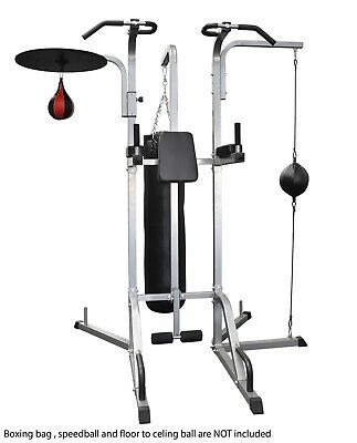 Power Tower Boxing Stand Speedball Stand Floor to Ceiling Stand 4in1 Home Gym