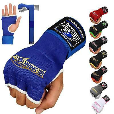 Authentic Inner Quick Hand Wraps Gloves Boxing Fist Gel Padded Bandages MMA Thai