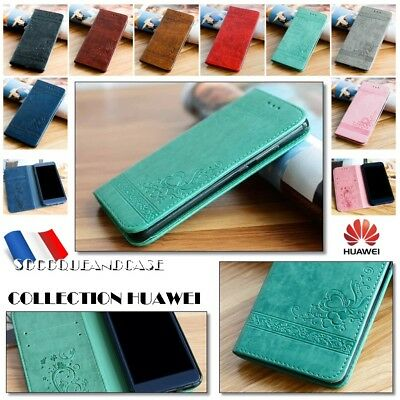 Etui Coque housse SWEET HEART Cuir PU Leather Case Cover Huawei P10 P8 lite 2017