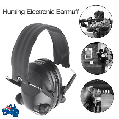 Foldable Shooting Hunting Electronic Earmuffs Hearing Protection Ear Muffs AU
