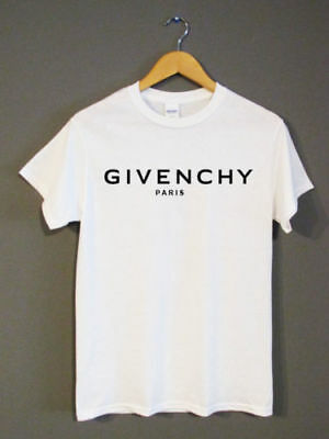 GILDAN Givenchy White Black Print T-shirt, Size S-XL