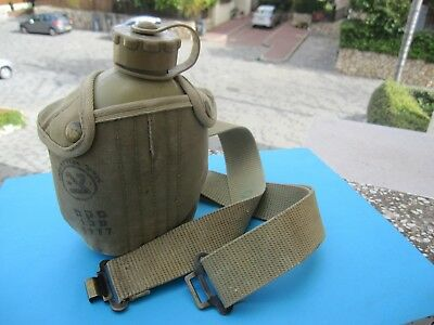Israel Idf Army- Golani's Battlefield Belt W/org.canteen,cover,zahal Signs ! Old