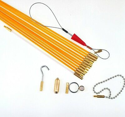Cable Access Kit Electricians Puller Rods Wire Fish Tape Push Pull Rods Snake