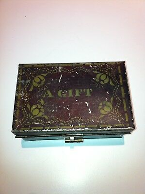 Rare 1800's 1900's Antique Collectable Gift Box Tin Dated 1866 18th 19th Century