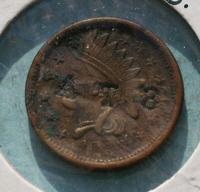 1863 Civil War Token CWT Patriotic  INDIAN HEAD  *NOT ONE CENT* *CTS AT3*