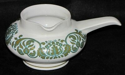 Vintage Ridgway Ironstone England Martinque Green Foliage Sauce or Gravy Boat
