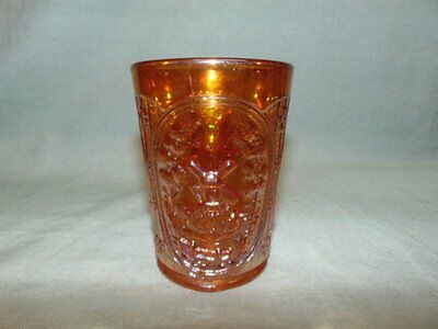 """Vintage Imperial Marigold Carnival Glass """"Windmill"""" Tumbler"""