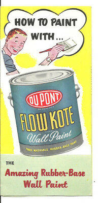1950s DUPONT FLOW KOTE WALL PAINT OVERLEA & LUMBER SUPPLY BALTIMORE MD BROCHURE
