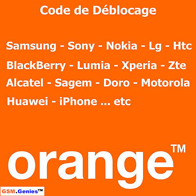 Déblocage OFFICIEL Désimlockage ORANGE France - iPhone Samsung Sony Nokia LG Htc