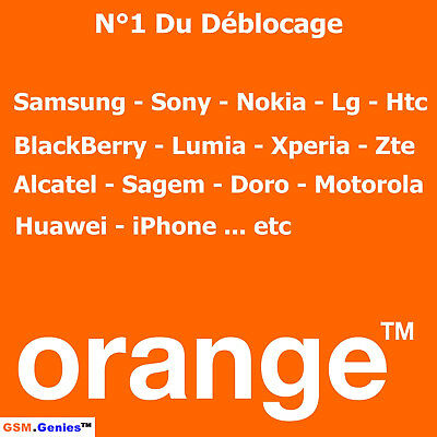 SAMSUNG CLEAN IMEI Unlock Code Deblocage ORANGE FRANCE INSTANT A 1H