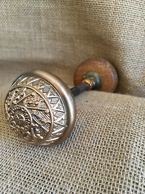 Antique decorative Brass/Wooden Door knob hardware