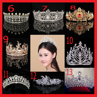 Bridal Princess Rhinestone Crystal Tiara Crown Queen Wedding Party Hair Headband