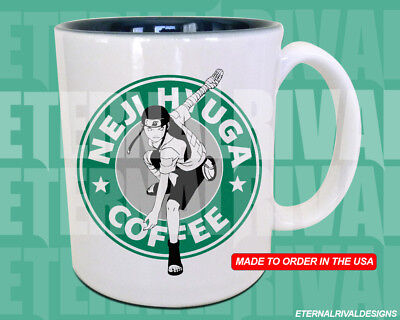 Neji Hyuga Starbucks Anime Manga Japanese Insipred Cartoon Geek Nerd Mug