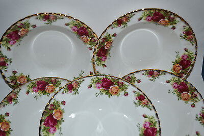 Lot Of 5: Royal Albert, Old Country Roses, Salad Bowl, Dessert Bowl, Soup Bowl
