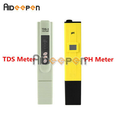 Digital PH Meter TDS Tester Meter for Pool Hydroponic Water Monitor 0-9999 PPM