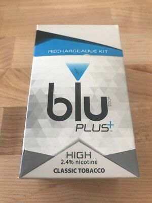 BRAND NEW Blu Classic Tobacco Rechargeable Kit 2.4 % Nicotine -