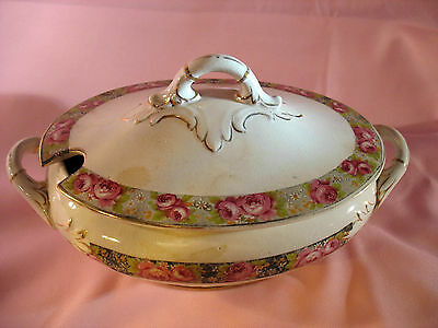 An Antique Or Vintage E.p.co. Empire Works Stoke On Trent Lidded Tureen