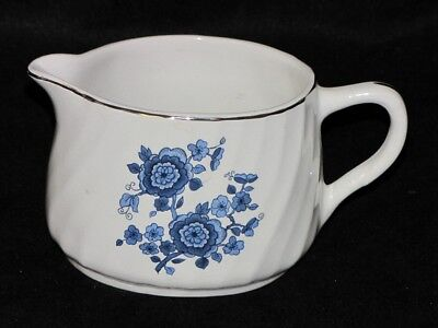 Vintage England Wedgwood Pottery Royal Blue Ironstone Flower Creamer