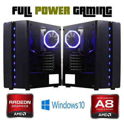 10 Core Starter Amd Gaming Pc 8gb Ram Fast Ssd Play All Basic Games 2gb Graphics 319 00 Picclick