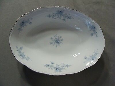 1 Seyei Fine China Oval Serving Bowl In The Elegant Lady #7002 Pattern, Japan
