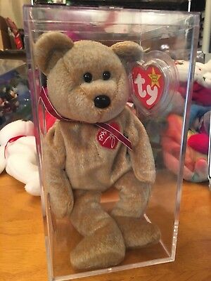 RARE RETIRED TY Beanie Baby 1999 SIGNATURE TEDDY Bear W/ ERRORS HANG TAG errors