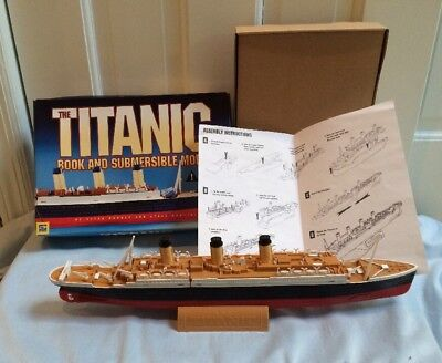 """The Titanic Submersible 16"""" Model Stand Box Instructions"""