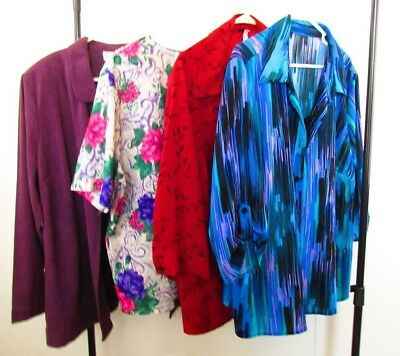Women's Tops Lot of 4 JESSICA LONDON/JUDY BOND/2-UNBRANDED Size 3X