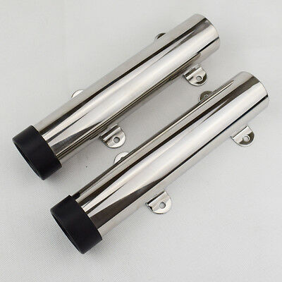 2PCS Stainless Steel Side Transom Mounted Fishing Rod Holder For Boat  Holders