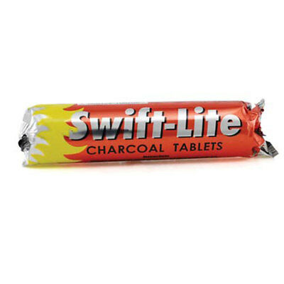 NEW Swift-Life Charcoal Tablets 33mm Size ONE Roll of 10 Tablets Incense Hookah
