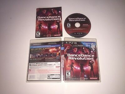 Dance Dance Revolution PlayStation 3 PS3 TESTED COMPLETE VERY NICE DDR Dancing