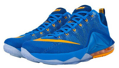best service 57da0 38b53 BRAND NEW Nike Lebron XII 12 Low Entourage Blue   Gold Air Max Shoes - Size