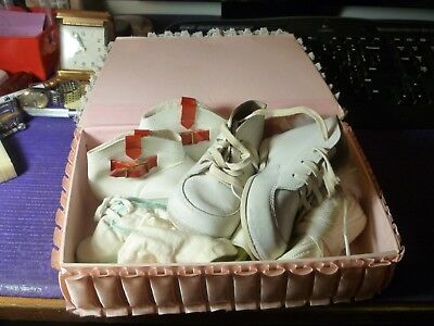 Vintage Baby Shoes - Lot of 4 Pairs Leather, Vinyl, Fabric, Fur Jelly Beans Box