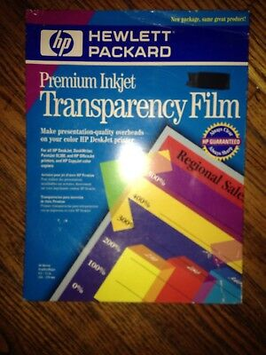 HP Premium Inkjet Transparency Film Open/Used.(Only has ten sheets) missing 40