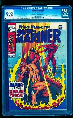 Sub-Mariner #14 Cgc 9.2 (Mile High Pedigree) Classic Human Torch Battle