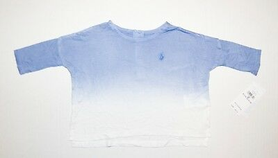 Ralph Lauren Girls Shirt Soft Viscose Two-Tone Dyed Baby Blue Infant Size 6M NWT