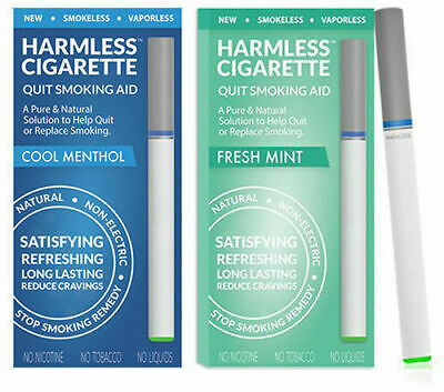 Natural Stop Smoking Aid / Habit Replacement Cigarette + Support Guide (2 Pack)