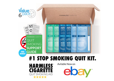 Harmless Cigarette Quit Smoking Aid Variety 6 Pack Oxygen Cool Menthol and Mint