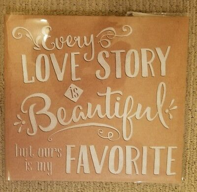 """20 Page Top Load 12""""x12"""" Scrapbook Photo Album """" Every Love Story is Beautiful"""""""