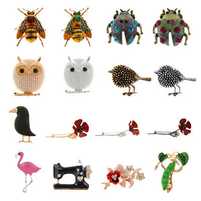 Lot Women Alloy Rhinestone Crystal Animal Bridal Party Brooch Pin Gift Fitted