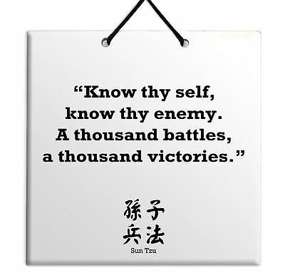 Sun Tzu - New Quote Wooden Wall Hanging Plaque TILE Home Decor Gift Sign