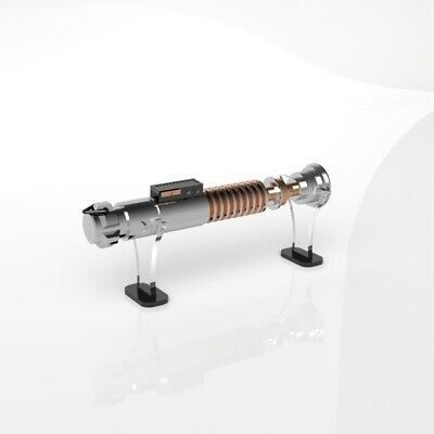Star Wars Lightsaber Stand / Perspex Acrylic Display Stand / Holder - Black Base