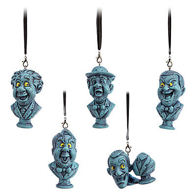 NEW! Disney Parks The Haunted Mansion Singing Busts 5 Pc Christmas Ornament Set