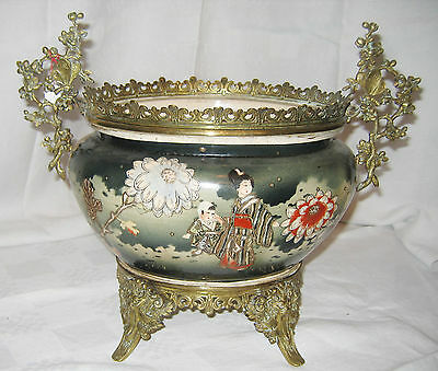 Grand cache-pot en porcelaine, Japon / Big cachepot, porcelain, Japan, 19th