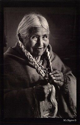 Postcard Old American Indian Woman, Photo by Marj Clayton #298